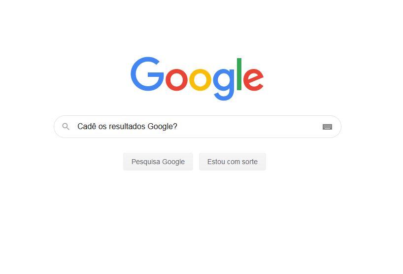 Bug no Google – Google não mostra resultados orgânicos